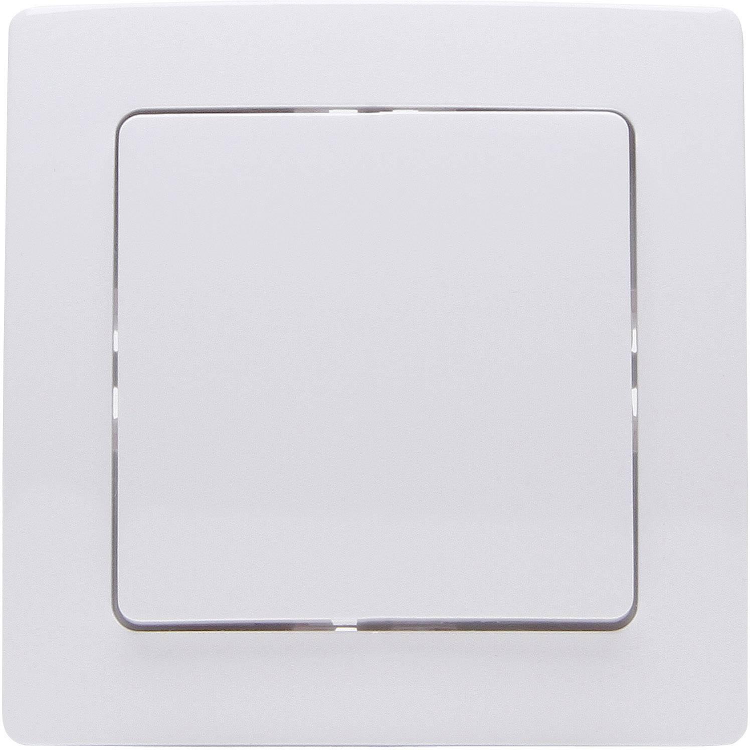 Bezdrôtový nástenný spínač Kopp Free Control FC HK 05 1/2 822002026, 2-kanálový, arktická biela