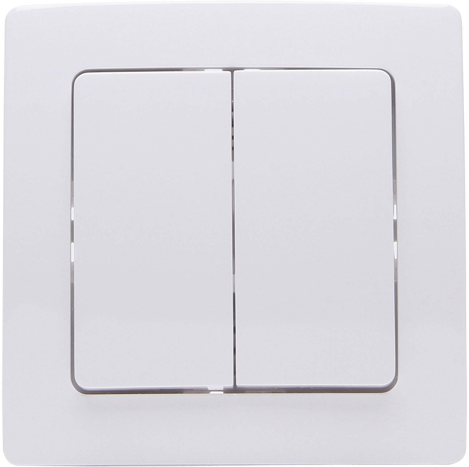 Bezdrôtový nástenný spínač Kopp Free Control FC HK 05 2/4 822102029, 4-kanálový, arktická biela
