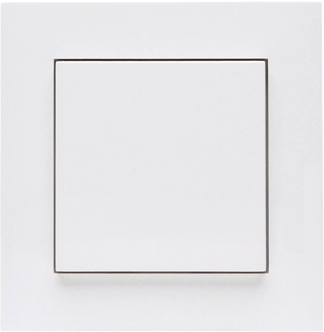 Bezdrôtový nástenný spínač Free Control RC ATHENIS 1/2 822902023, 2-kanálový, čisto biela
