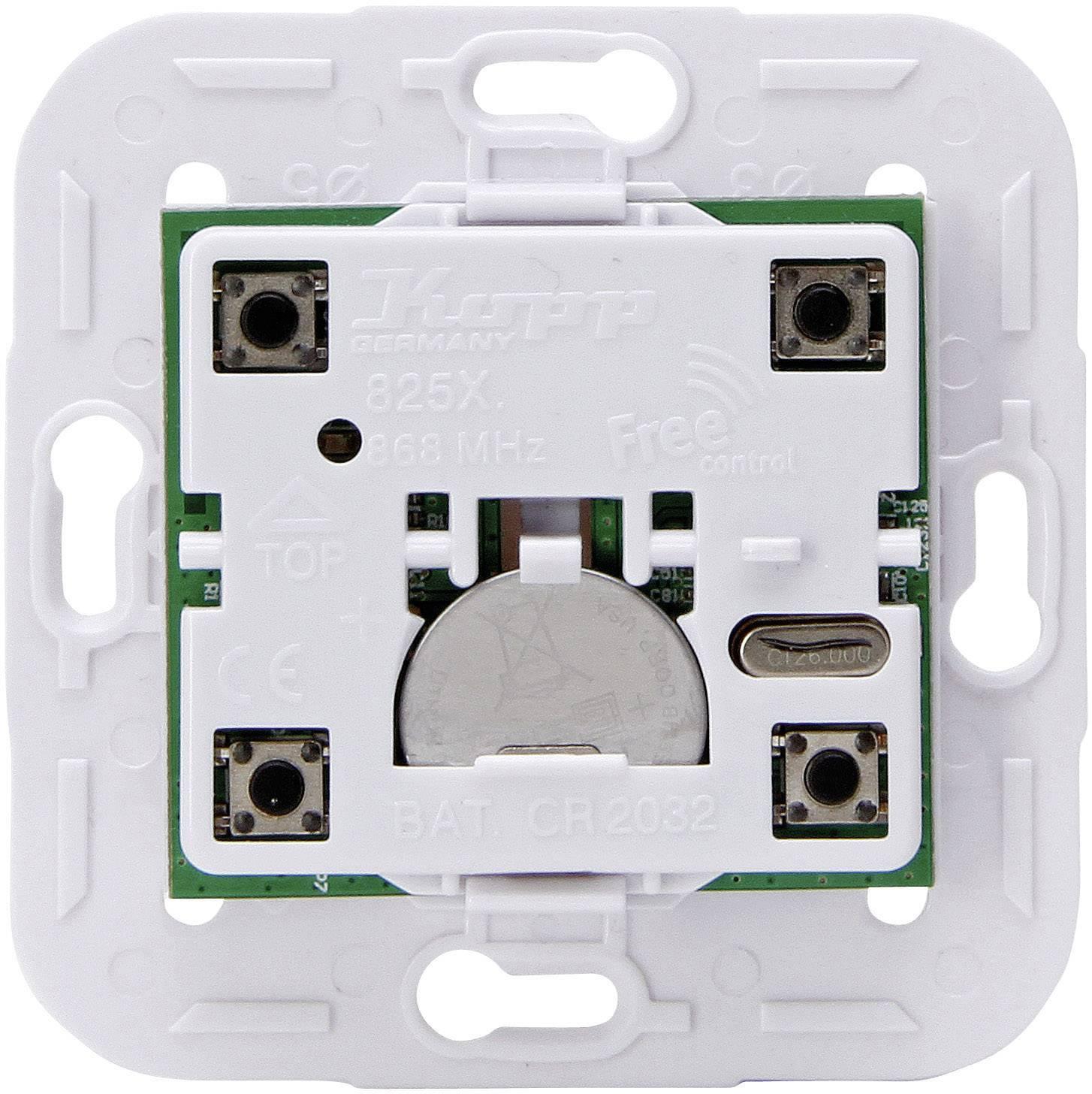 Bezdrôtový nástenný spínač Kopp Free Control 825602027, 4-kanálový
