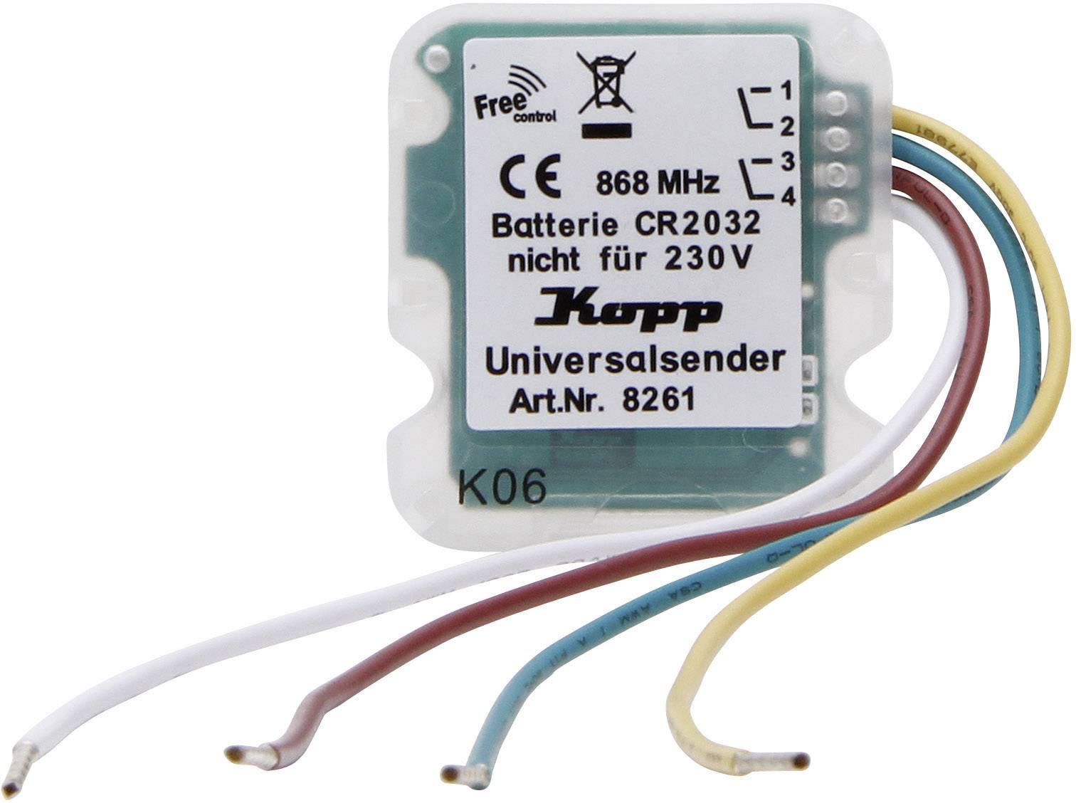 Bezdrôtový vysielač Kopp Free Control 826100021, 2-kanálový