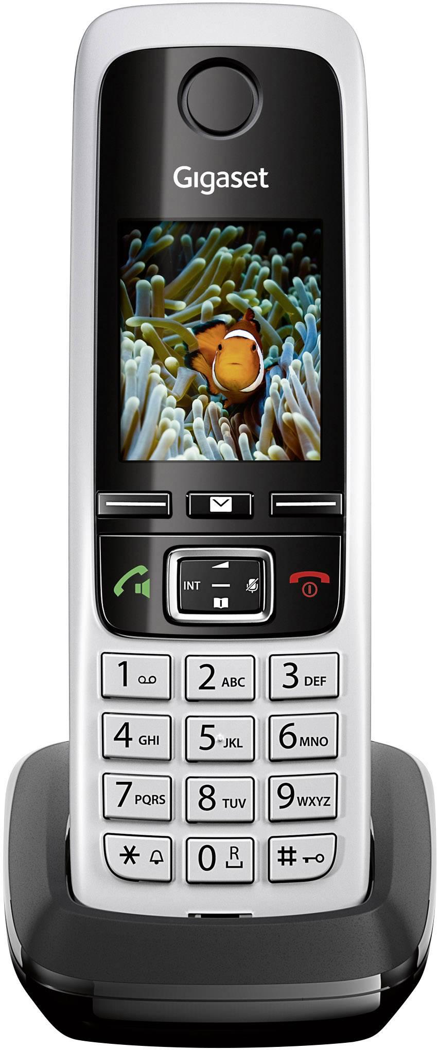 Bezdrátový analogový telefon Gigaset C430HX, černá/stříbrná