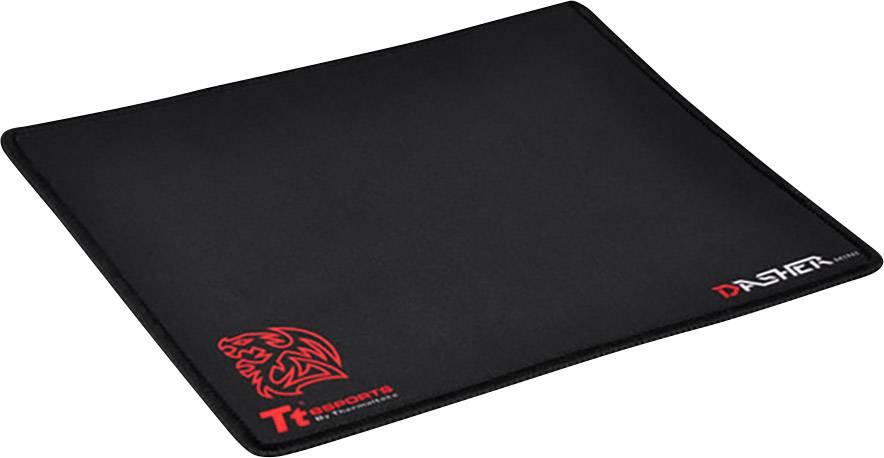 Herná podložka pod myš TT eSports DASHER Mini Slimflexibilita, 210 x 250 , čierna, červená