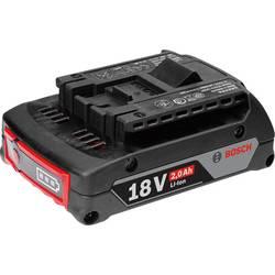 Náhradní akumulátor pro elektrické nářadí, Bosch Professional GBA 18 V 1600Z00036, 18 V, 2 Ah, Li-Ion akumulátor