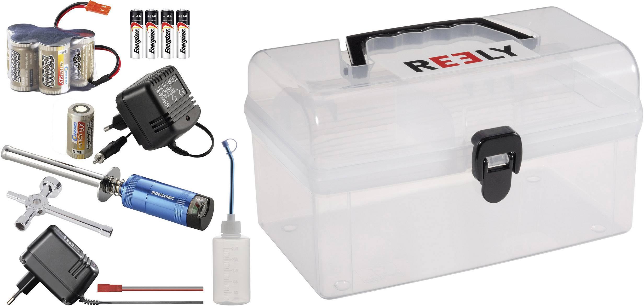 Kompletná sada pro modely aut s nitro motorom Reely Nitro box 1:8 (RTR)
