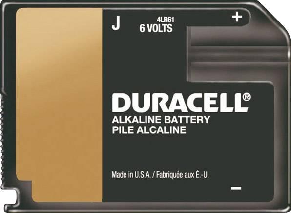 Plochá batéria Duracell 4LR61 Block 6 V (ploché balenie), alkalicko/mangánová, 500 mAh