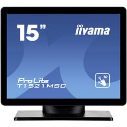 Dotykový monitor 38.1 cm (15 palec) Iiyama T1521MSC-B1 N/A 4:3 8 ms VGA, USB TN LED