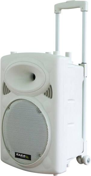 Mobilné PA reproduktory Ibiza Sound PORT12VHF-BT-WH