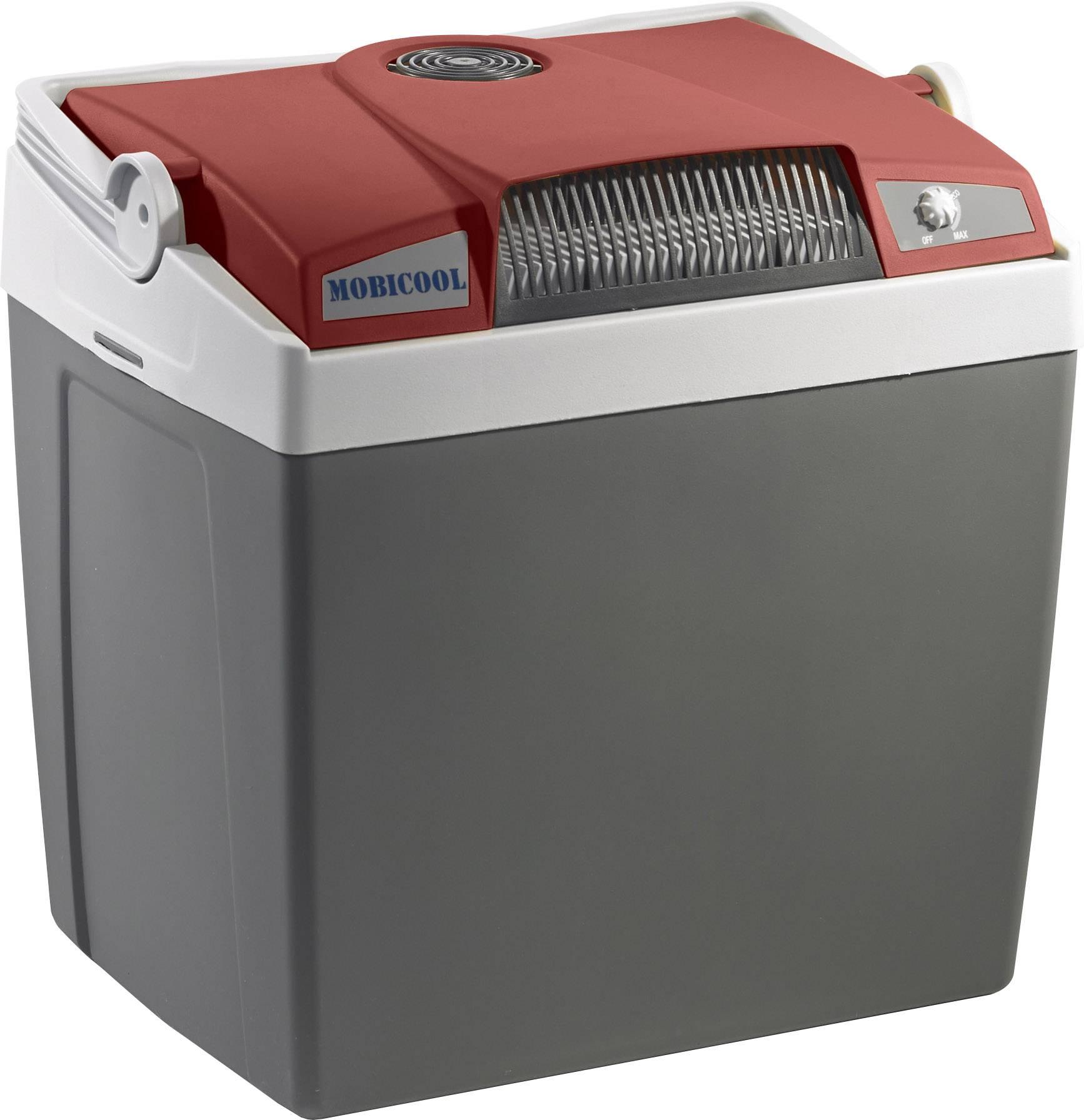 Přenosná lednice (autochladnička) MobiCool G26 AC/DC, 12 V, 230 V, 25 l, červeno šedá