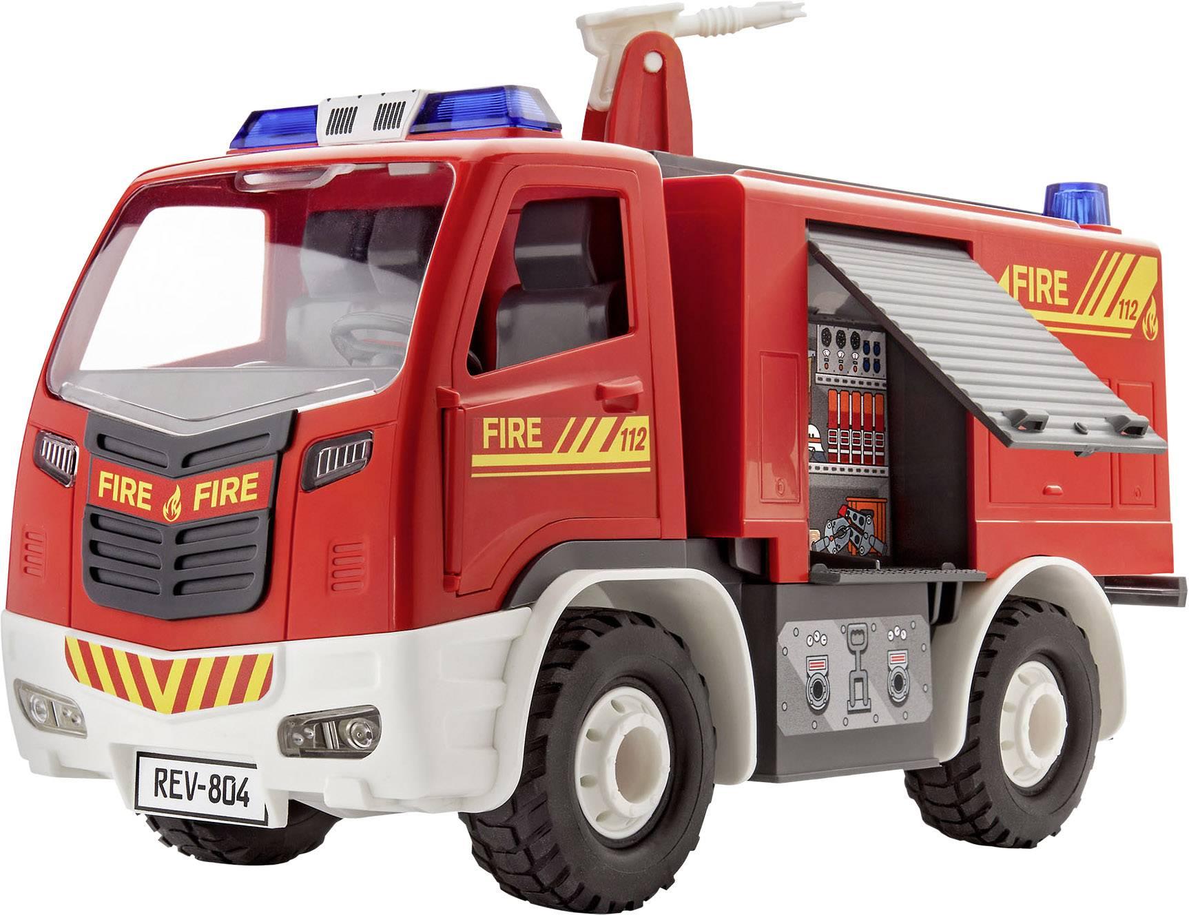 Model auta, stavebnice Revell 00804 Junior Kit - hasičský vůzJunior Kit Feuerwehr-Auto Bausatz