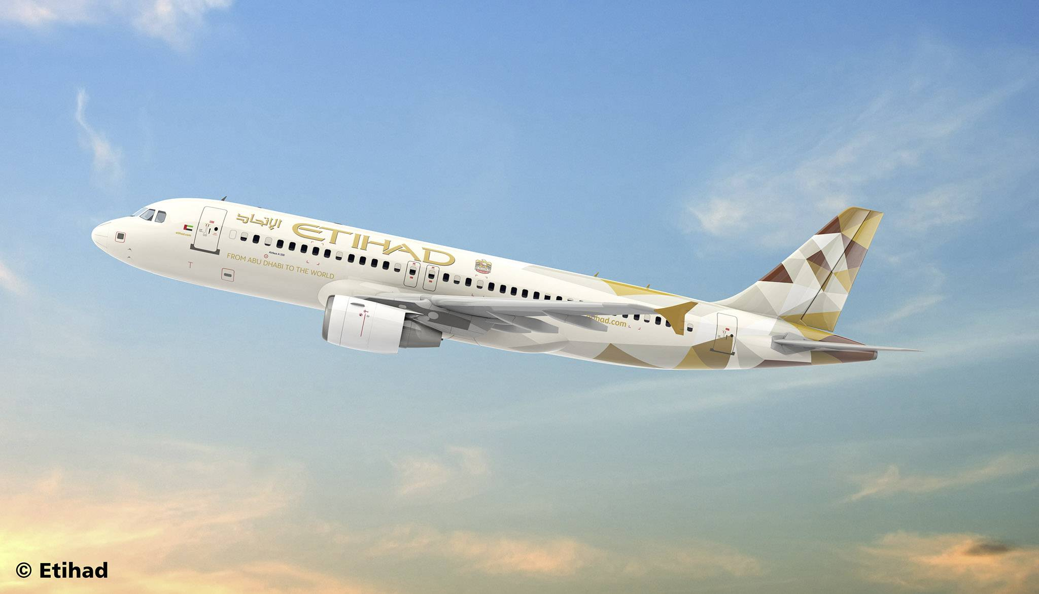 Model letadla, stavebnice Revell 03968 Etihad Airways Airbus A320 Etihad Airways 1:144