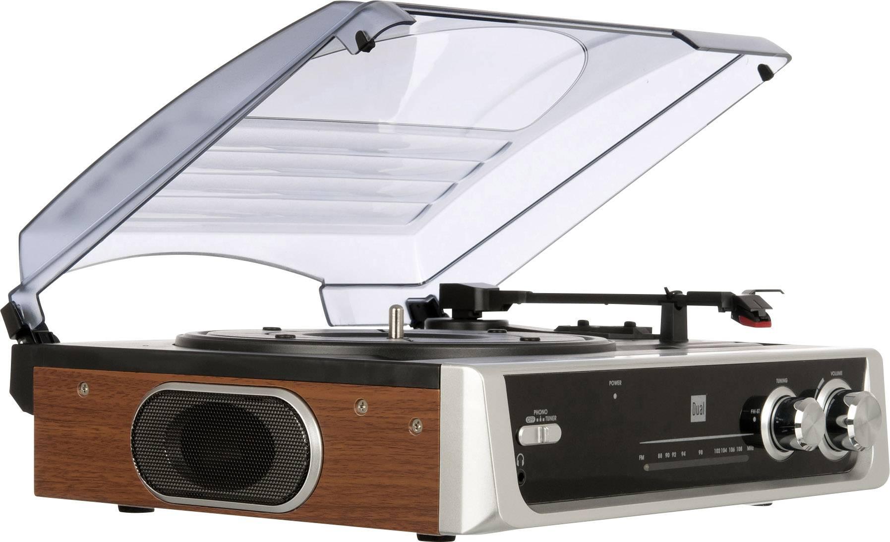 Gramofón Dual DTR 50 s remienkovým náhonom, striebornočierná