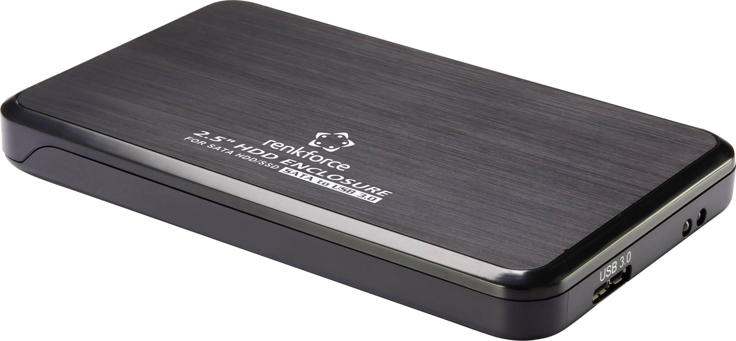 """Puzdro na pevný disk SATA 2.5 """" Renkforce RF-4271220, USB 3.0, čierna"""