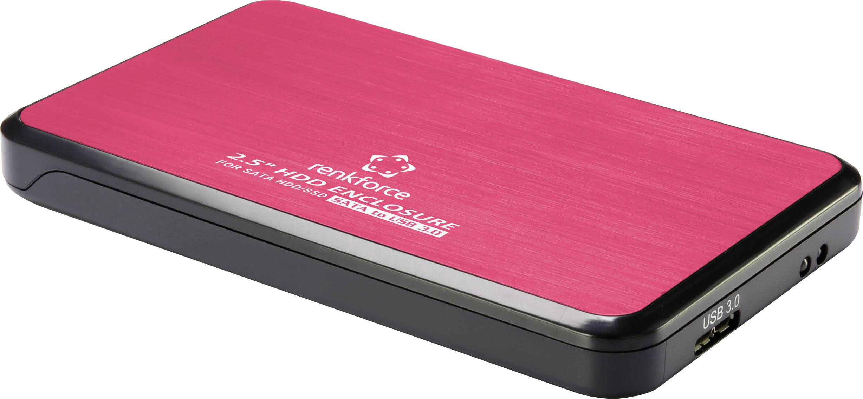 """Puzdro na pevný disk SATA 2.5 """" Renkforce RF-4271226, USB 3.0, červená"""