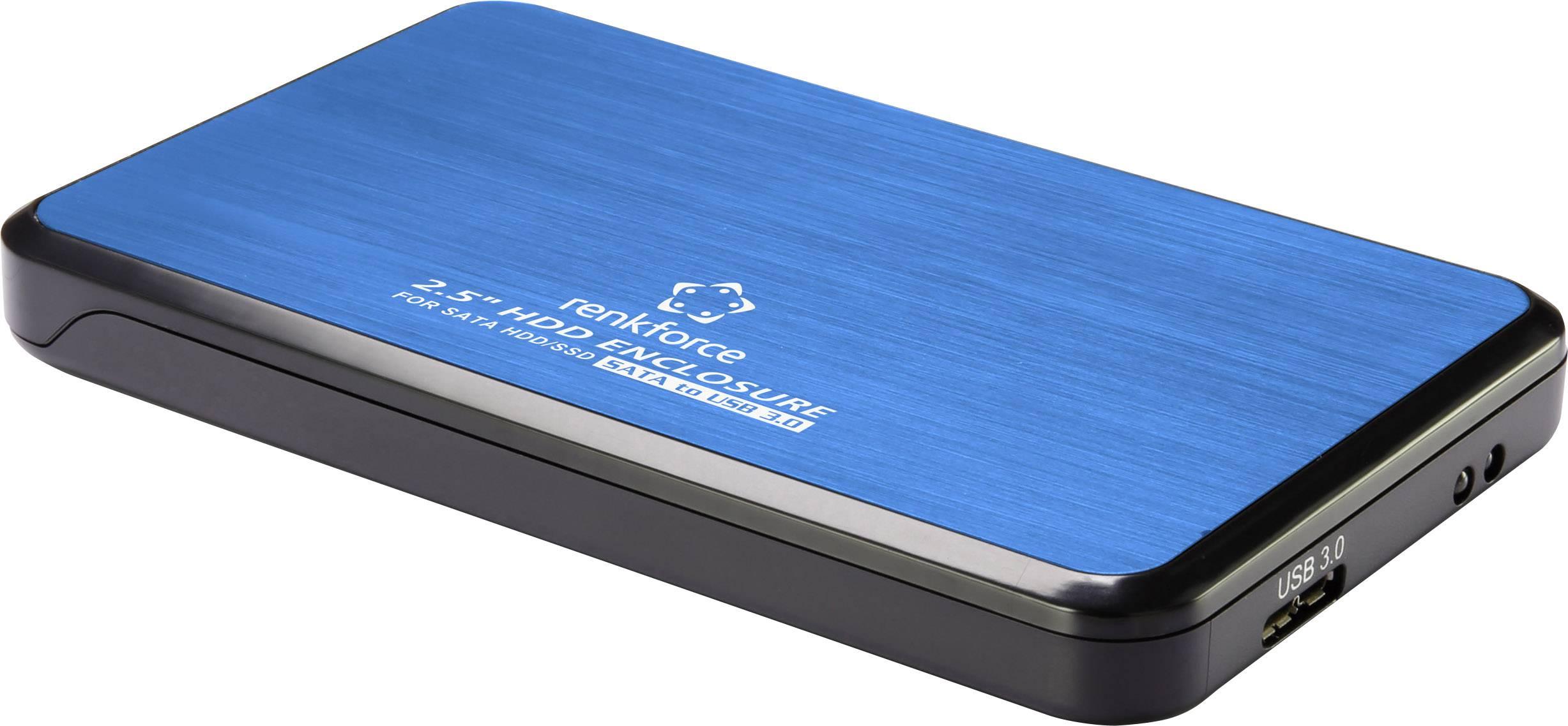 """Puzdro na pevný disk SATA 2.5 """" Renkforce RF-4271229, USB 3.0, modrá"""
