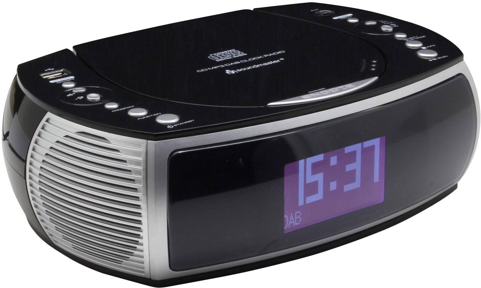 DAB + rádiobudík Soundmaster URD470SW AUX, CD, USB čierna