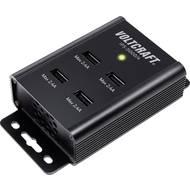 USB nabíječka VOLTCRAFT IPS-5000/4, 2400 mA, černá