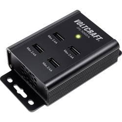 USB nabíječka VOLTCRAFT IPS-5000/4, nabíjecí proud 2400 mA, černá