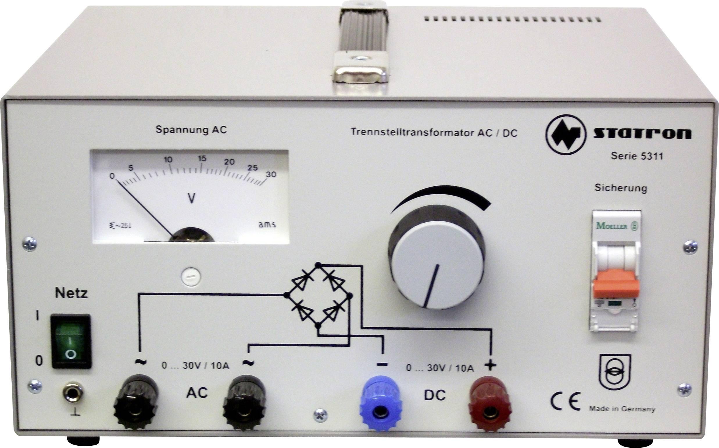 Laboratorní zdroj s nastavitelným napětím Statron 5311.1, 0 - 30 V, 10 A, 300 W