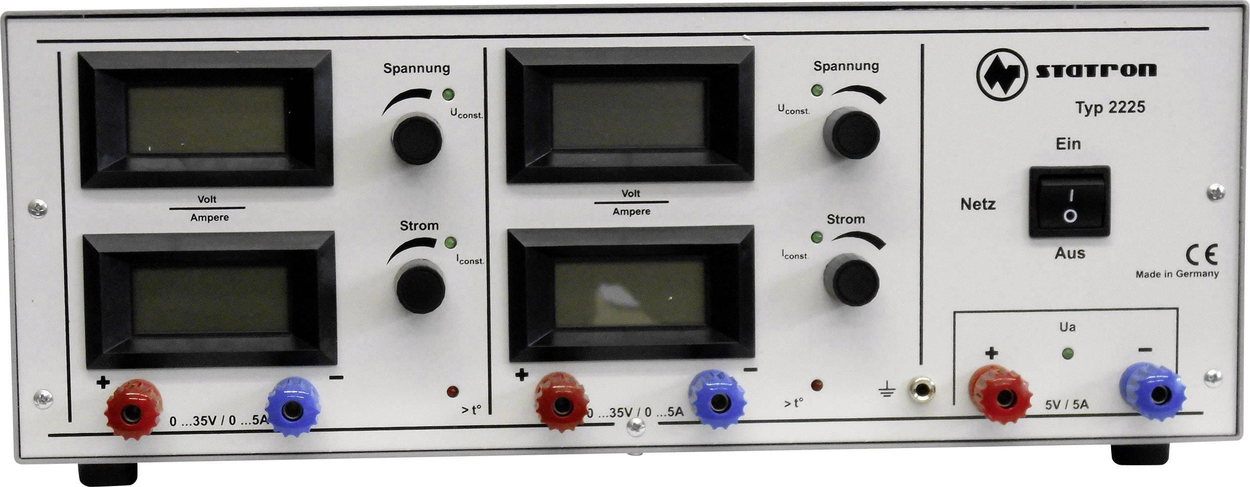 Laboratorní zdroj s nastavitelným napětím Statron 2225.4, 0 - 35 V, 0 - 5 A, 375 W