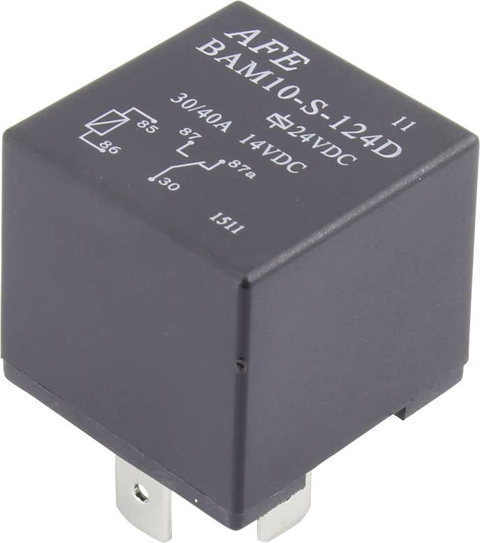 Relé motorového vozidla AFE, 12 V/DC, 30 A, 1 přepínací kontakt