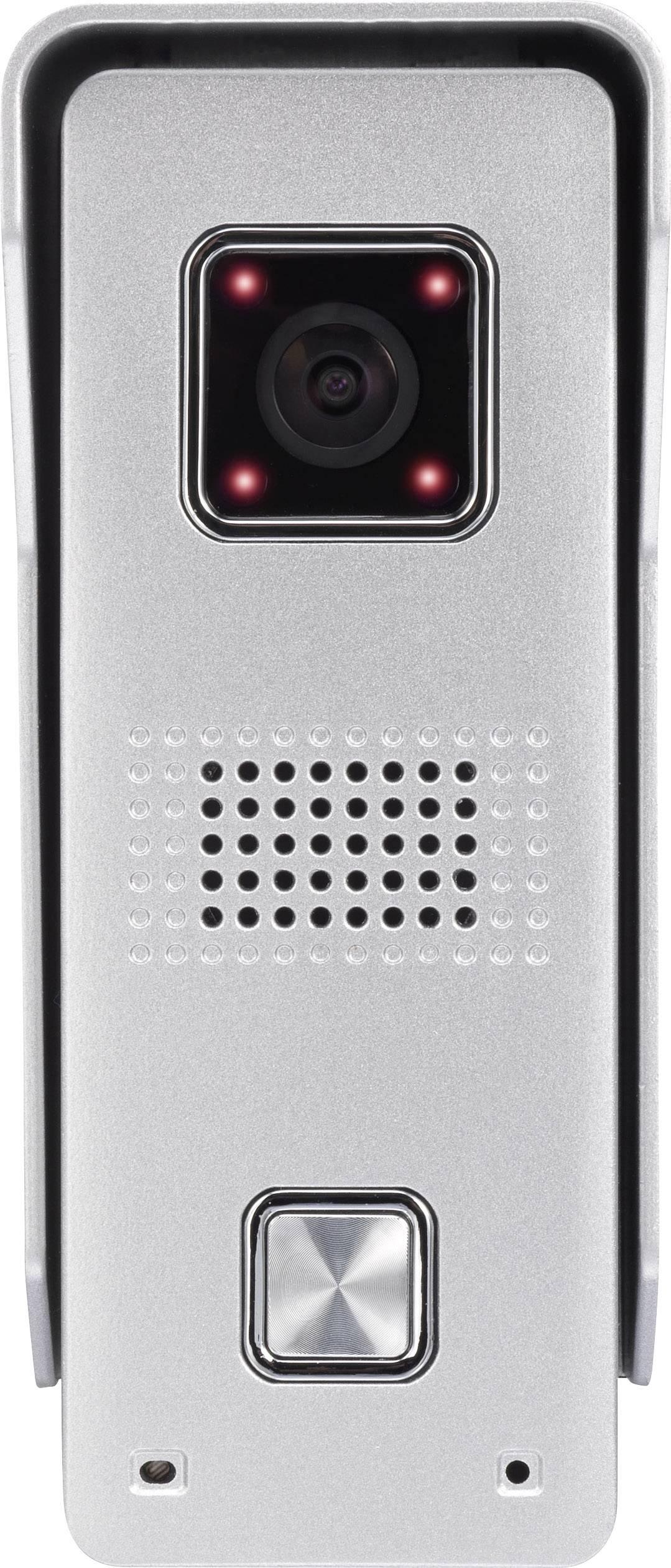 IP-video dverový telefón vonkajšia jednotka Basetech WiFi pre 1 domácnosť, strieborná