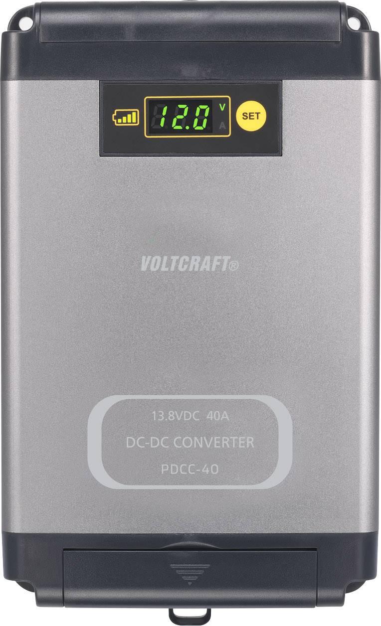DC/DC měnič napětí do auta VOLTCRAFT PDCC-40 12 V/DC/40 A, regulovatelné výstupní napětí