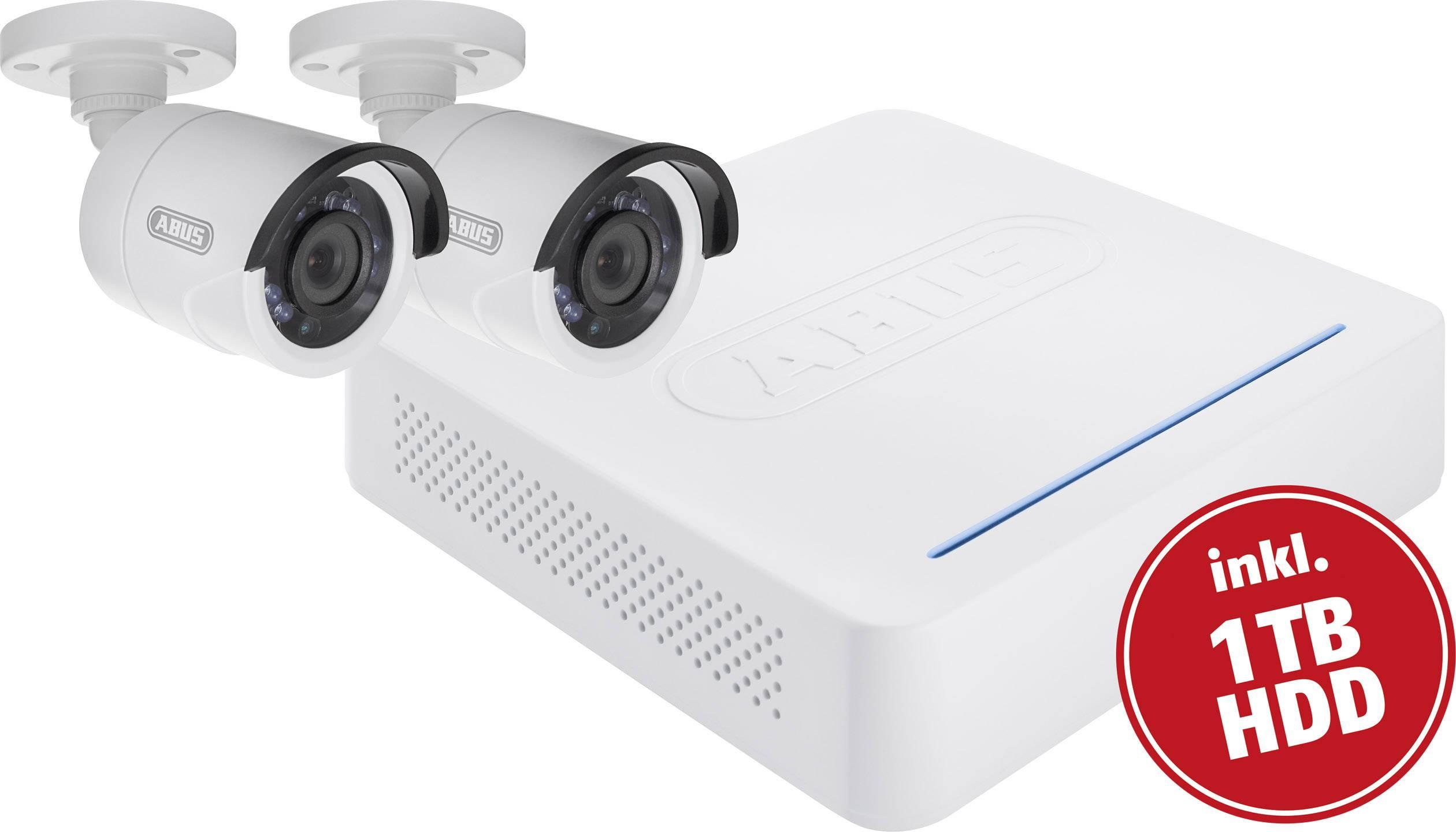 Sada bezpečnostnej kamery DVR+ 2 kamery ABUS TVVR33204 1 TB