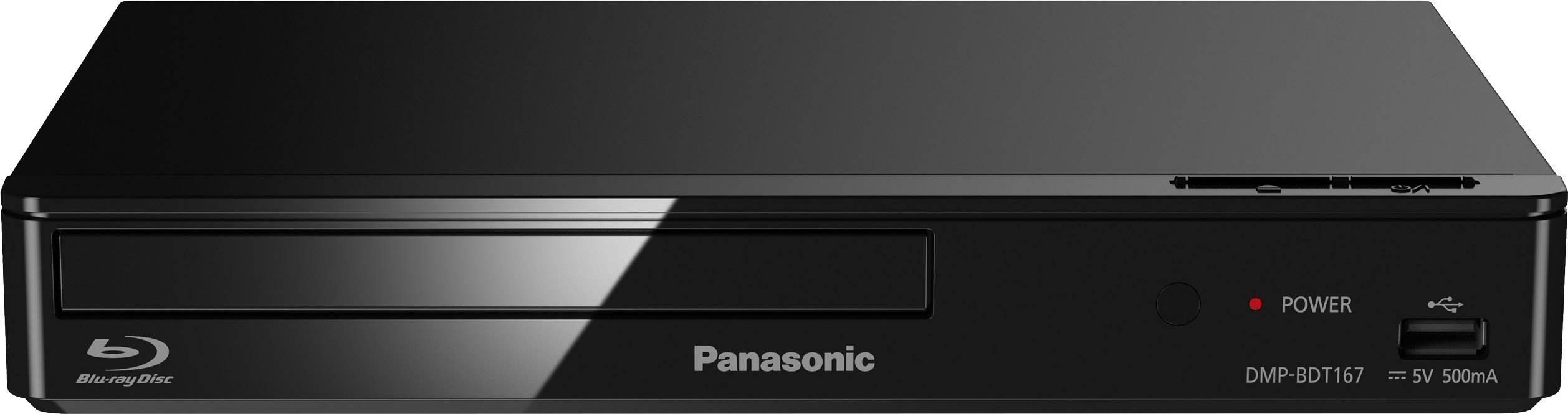 3D Blu-Ray přehrávač Panasonic DMP-BDT167, Full HD upscaling, černá