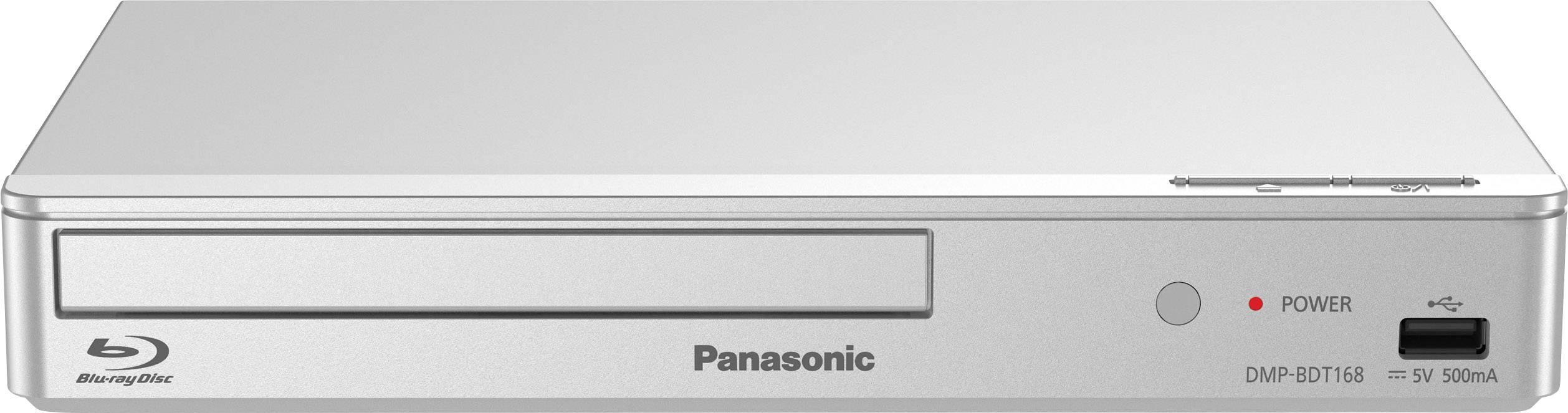 3D Blu-Ray přehrávač Panasonic DMP-BDT168, Full HD upscaling, stříbrná