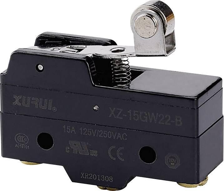 Mikrospínač - páka s rolnou TRU COMPONENTS 1426619, 250 V/AC, 15 A