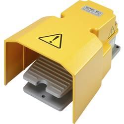 Nožní/ruční tlačítko s ochranným krytem TRU COMPONENTS XF-502, 250 V/AC, 15 A, 1 spínací kontakt, 1 rozpínací kontakt, 1 ks