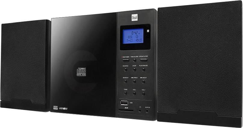 DAB+ CD rádio Dual DAB 102, AUX, CD, DAB+, SD, FM, USB, černá