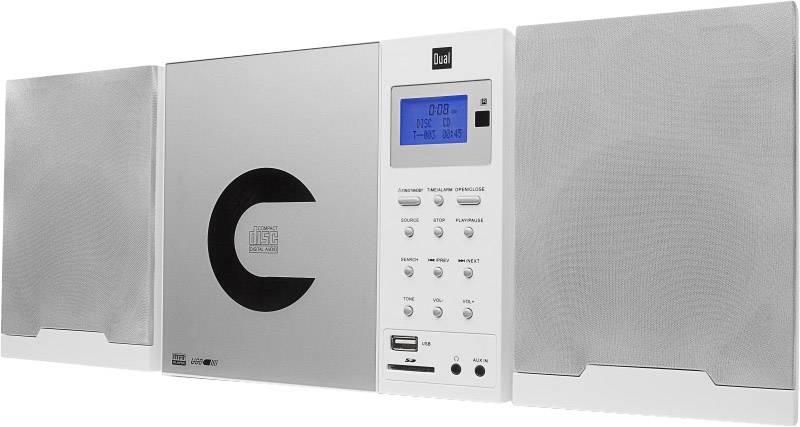 DAB+ CD rádio Dual DAB 102, AUX, CD, DAB+, SD, FM, USB, bílá