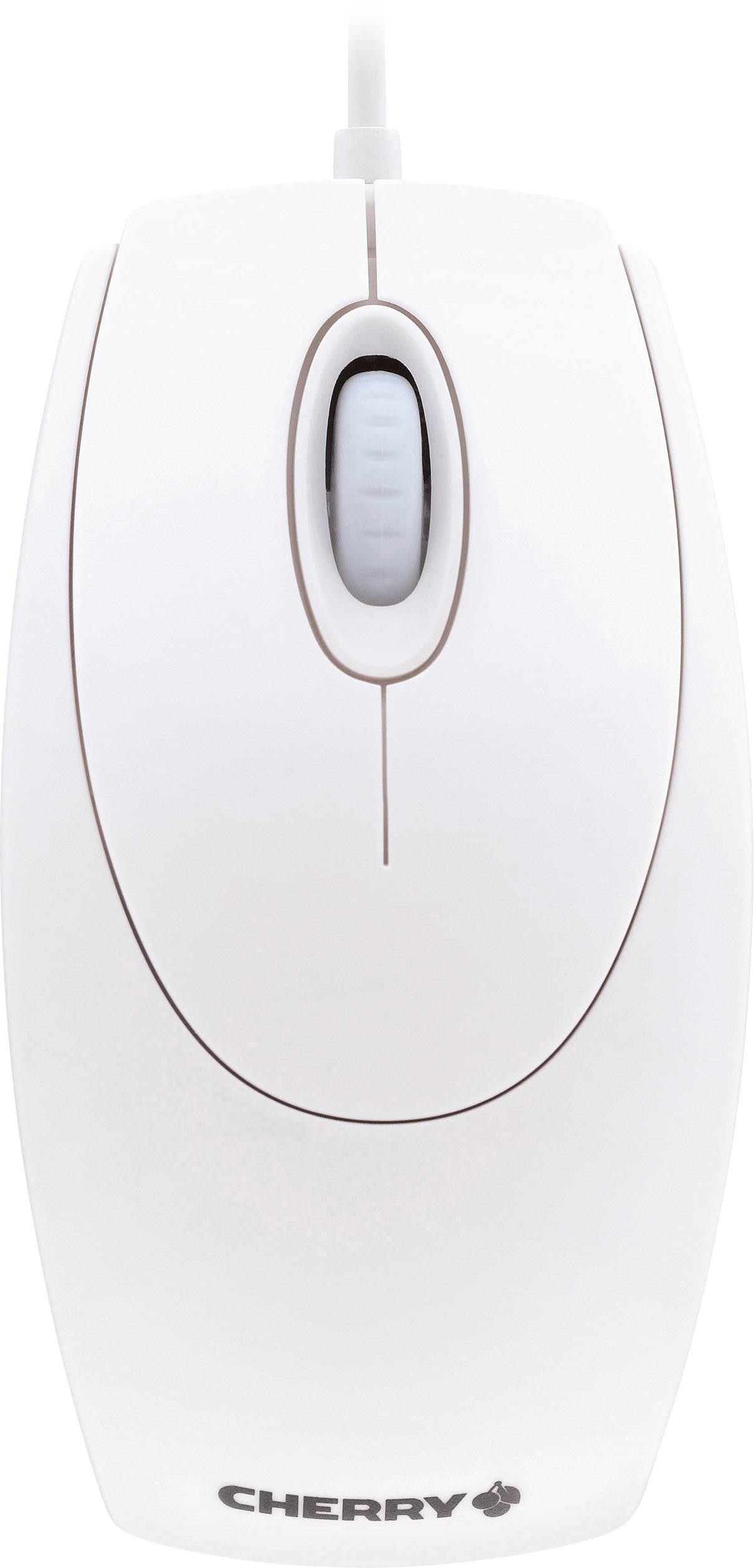 Optická USB myš CHERRY Wheelmouse Optical M-5400-0, bílá
