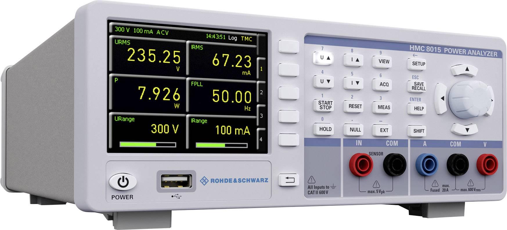 Analyzátor výkonu Rohde &Schwarz HMC8015-G s rozhraním GPIB Rohde & Schwarz HMC8015-G 3593.8875.02