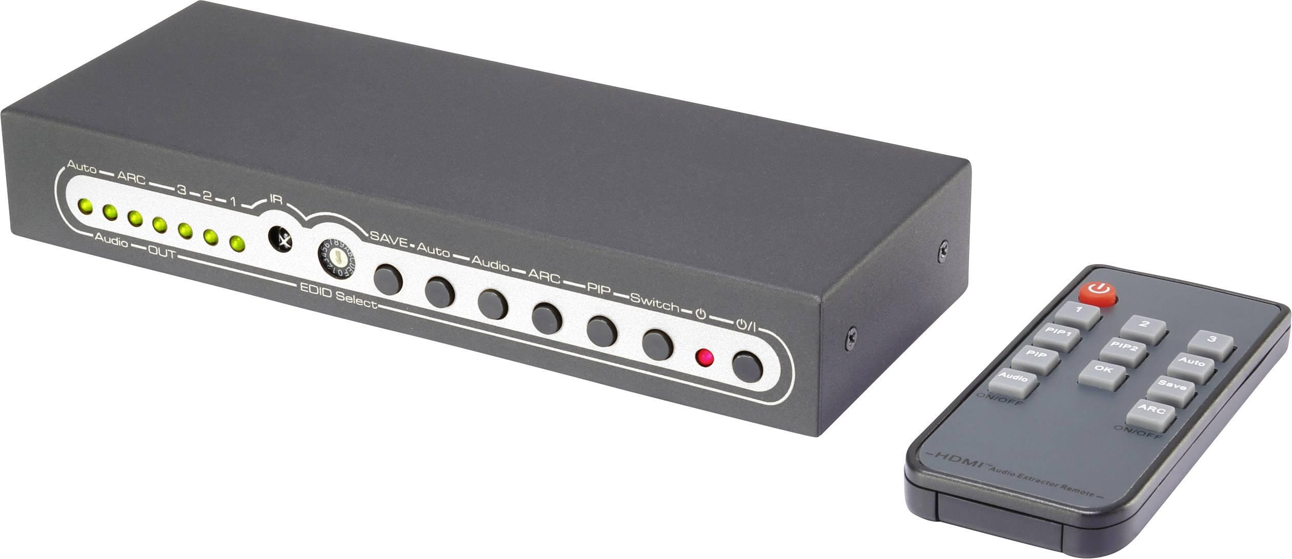 Prepínač HDMI SpeaKa Professional SP-5709700, s 3 portmi