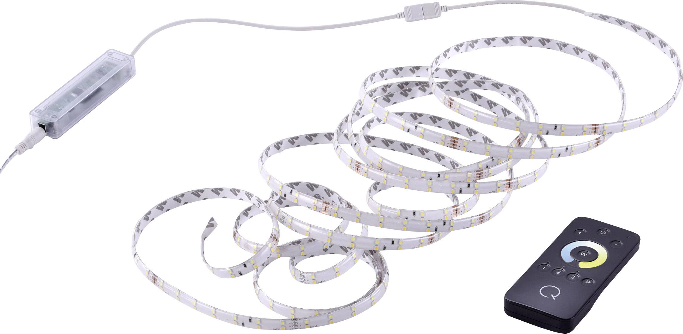 LED pásek s dálkovým olvadačem Paul Neuhaus Q®-Teania, pevně vestavěné LED, 25 W, teplá bílá, RGB