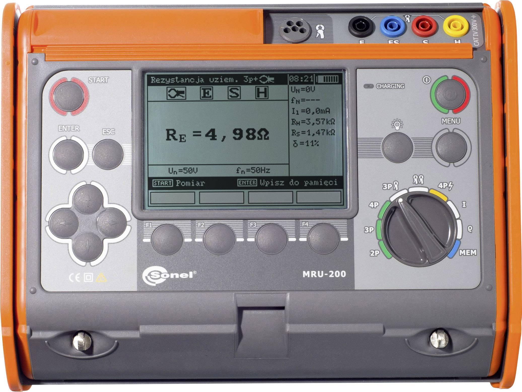 Merač zemných odporov Sonel MRU-200
