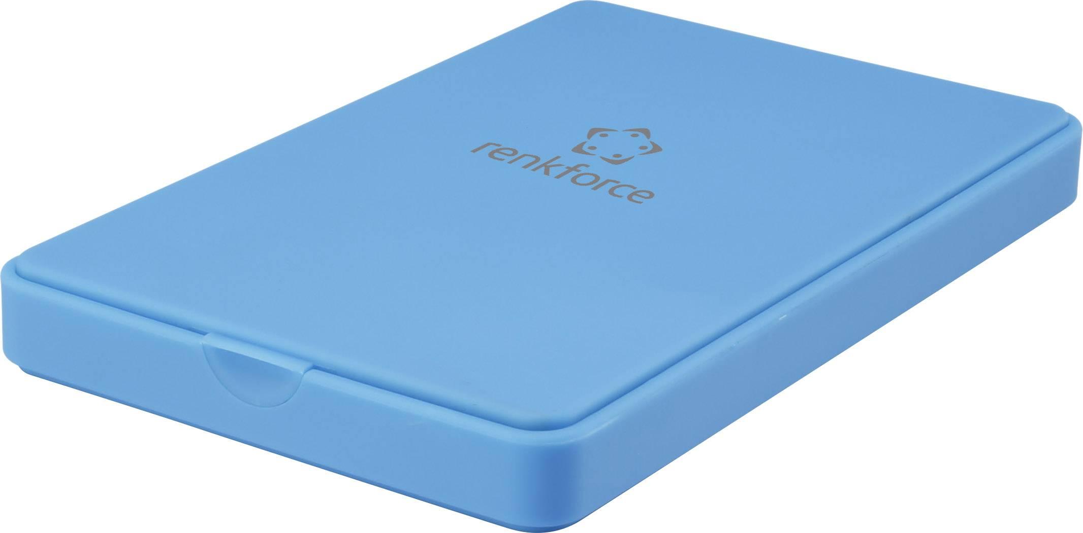 """Puzdro na pevný disk SATA 2.5 """" Renkforce RF-4284432, USB 3.0, modrá"""