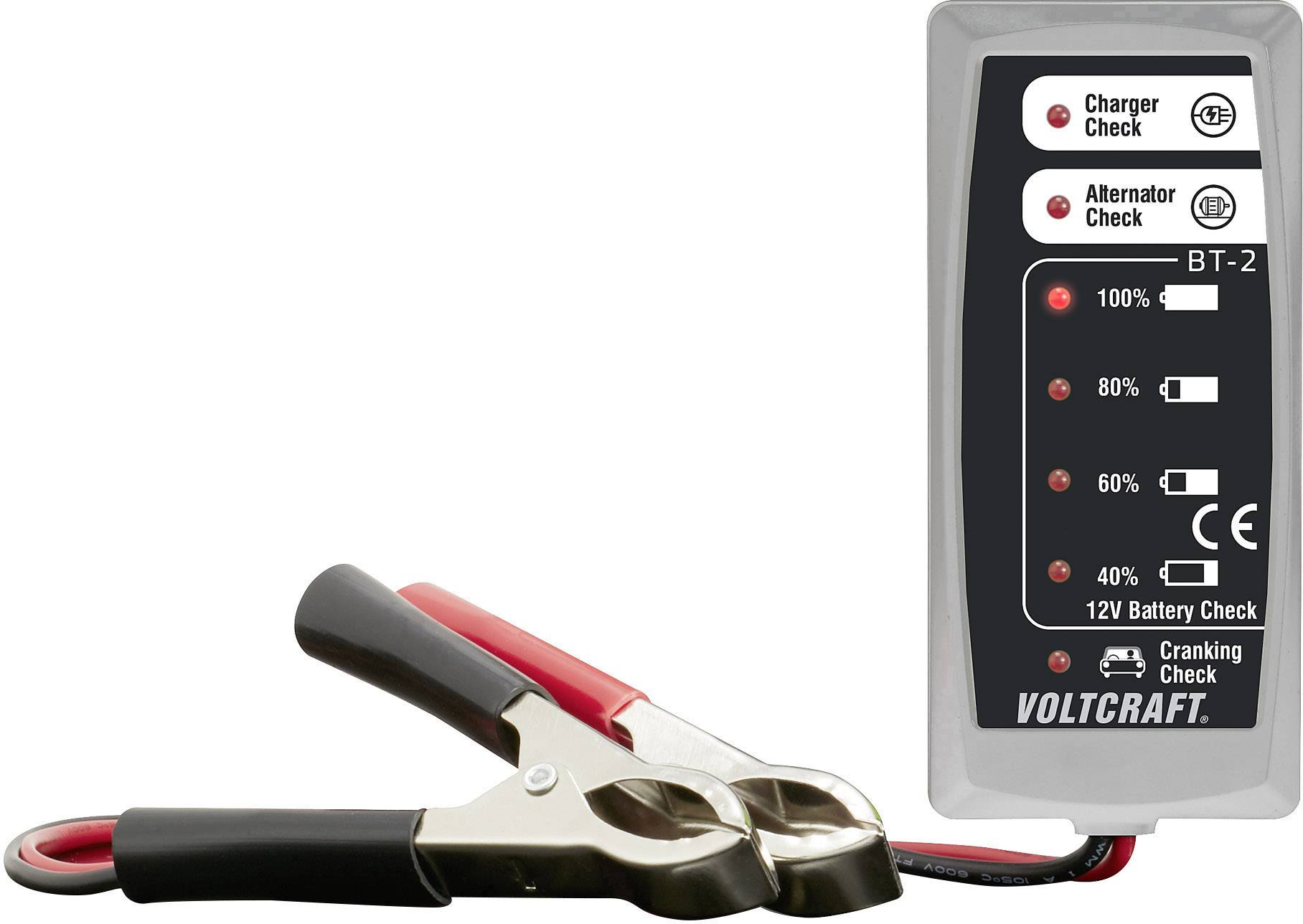 Tester olověných akumulátorů VOLTCRAFT BT-2 LED