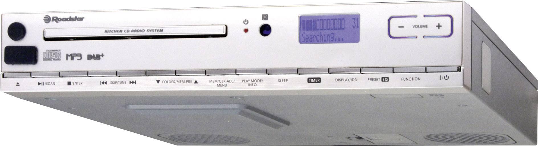 DAB + kuchynské rádio, závesné Roadstar CLR-2950DAB + AUX, CD, USB strieborná