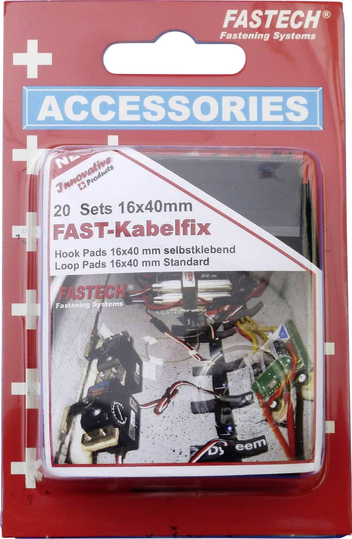 Lepicí, ke spojování pásek se suchým zipem Fastech 611-330-Mod 611-330-Mod, (d x š) 40 mm x 16 mm, černá, 40 díl