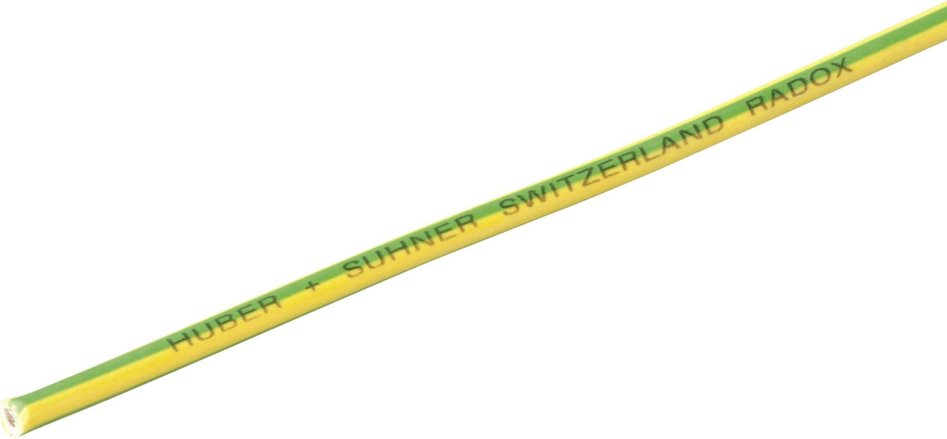 Opletenie / lanko Huber & Suhner 12420125 Radox® 155, 1 x 4 mm², vonkajší Ø 4.20 mm, metrový tovar, zelenožltá