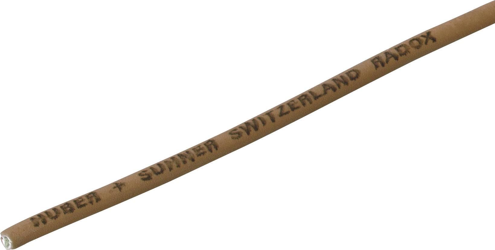 Lanko/ licna Huber & Suhner Radox® 155, 1 x 2.50 mm², vnější Ø 3.50 mm, hnědá, metrové zboží