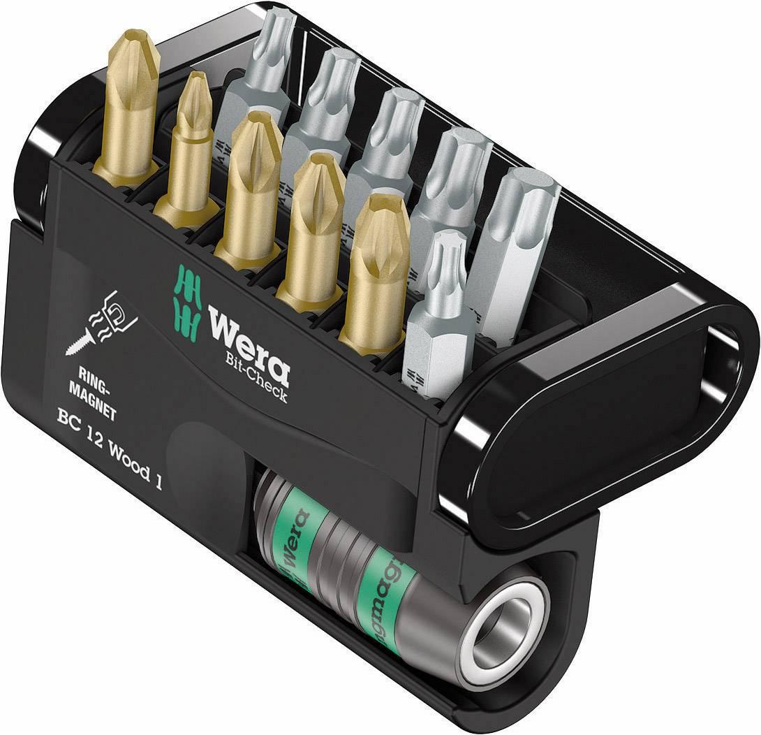 Sada bitov Wera Bit-Check 12 Wood 1, 05057423001, 12-dielna, nástrojová oceľ