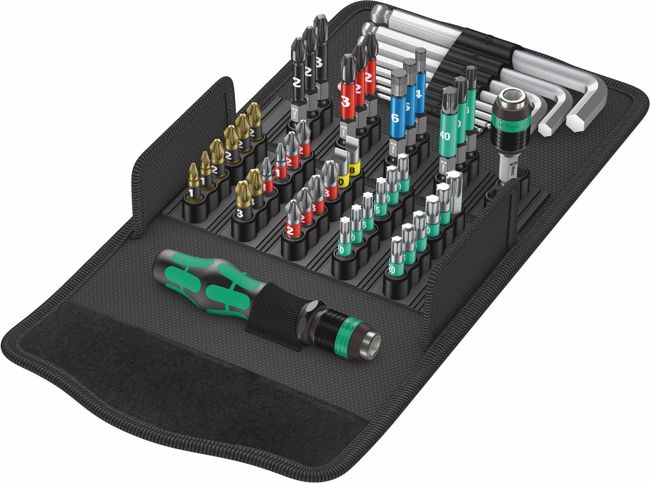 Sada bitov Wera Kraftform Kompakt 100 05057460001, nástrojová oceľ, 52-dielna