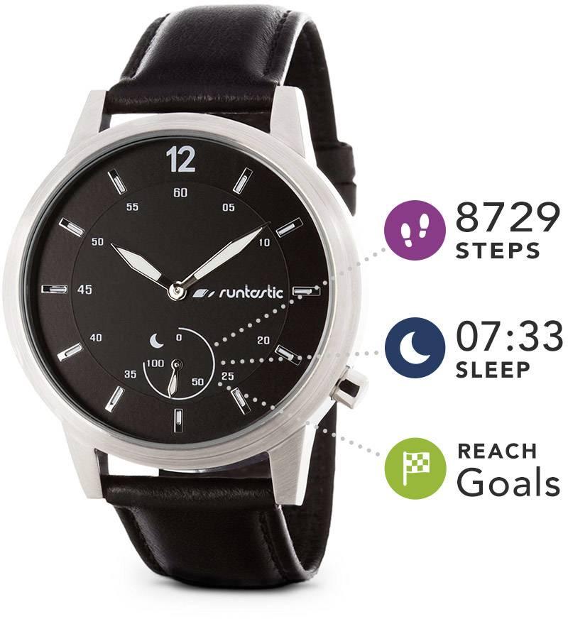 Fitness hodinky Runtastic Moment Classic Silver, velikost: uni, stříbrná