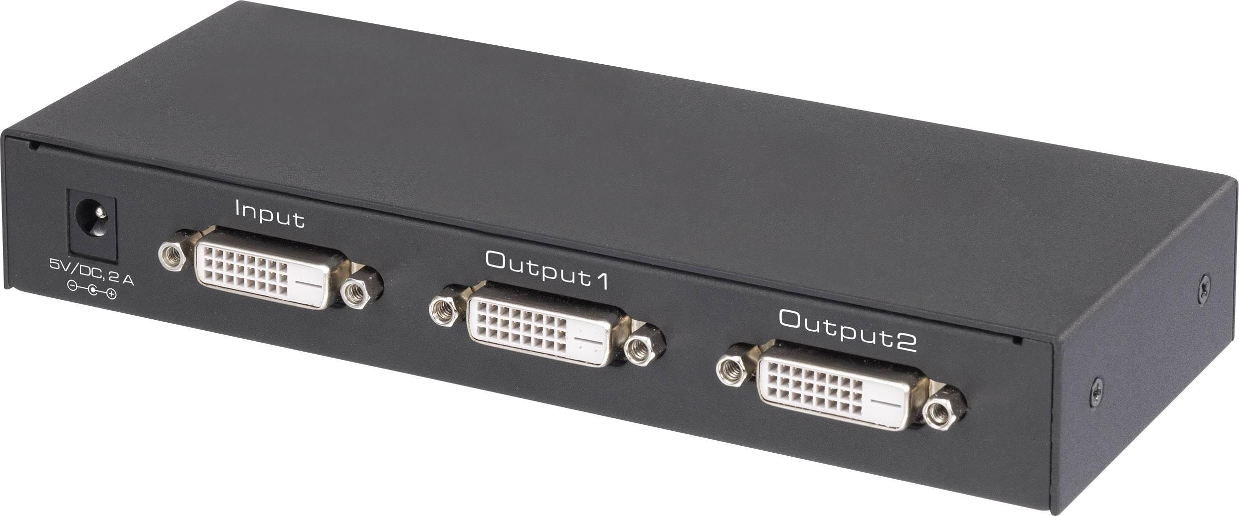 DVI rozbočovač Renkforce N/A, UHD, 2 porty, černá