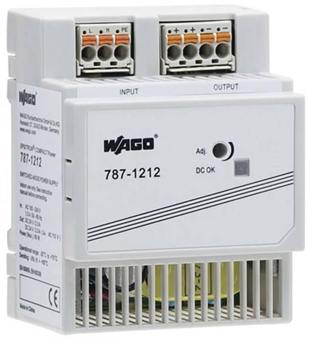 Síťový zdroj na DIN lištu WAGO 787-1212, 1 x, 24 V, 2.5 A, 60 W